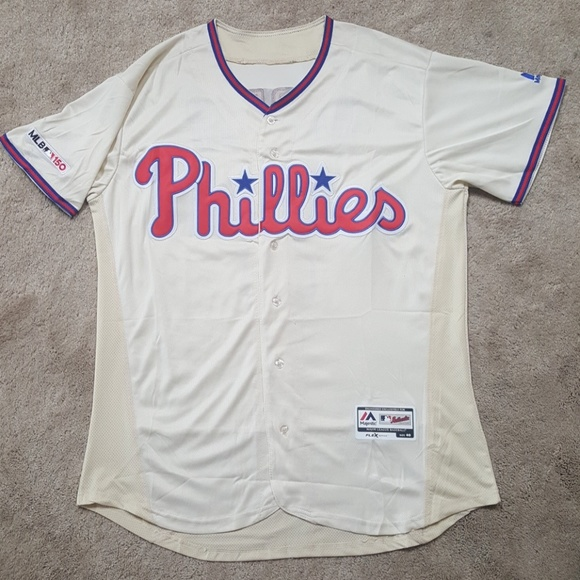 on sale 403be 03da0 Bryce Harper Phillies Stitched Jersey Mens Medium